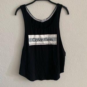 Calvin Klein black lounge tank top
